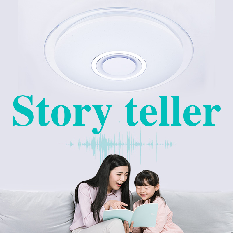 Kids story teller Children bedroom Led ceiling light modern lamp bluetooth MUSIC lamp creative decoration lighting 52w 165-265V