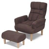 Einstellbare Faul Sofa Stuhl w/Hocker und Armlehne Schwamm Polsterung und Durable Stahl Rahmen Einzigartige Entspannen Sofa Stuhl HW58129-in Wohnlandschaften aus Möbel bei