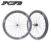 2017 new FCFB 700C 23mm 50mm Clincher UD matt Road Bike Carbon Wheels Fastace RA209 Carbon Bicycle Wheelset ems shipping