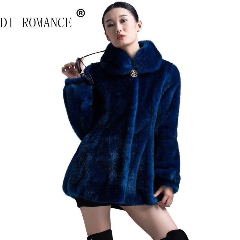 Compra azul abrigo de piel de imitación online al por