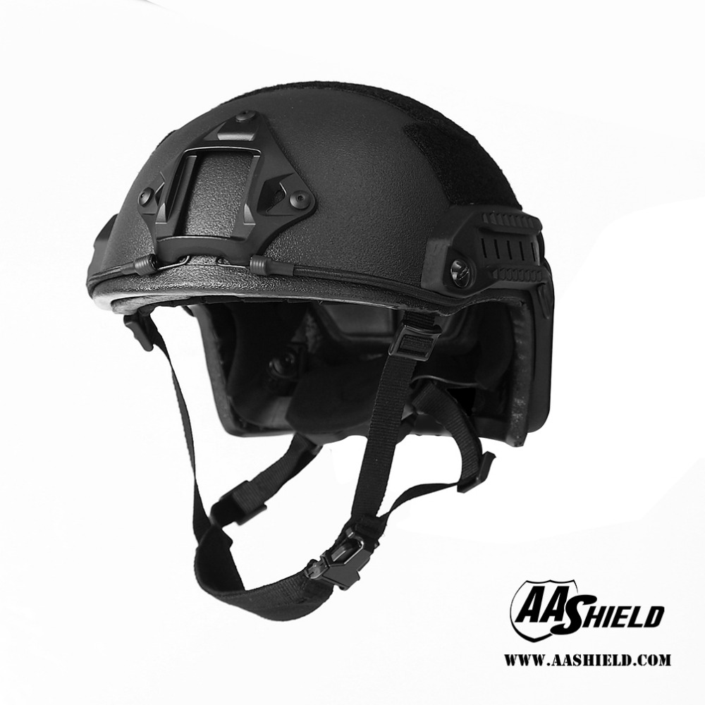AA Shield Ballistic ACH High Cut Tactical Helmet Bulletproof Military FAST Helmet Safety Helmet NIJ IIIA 3A Black