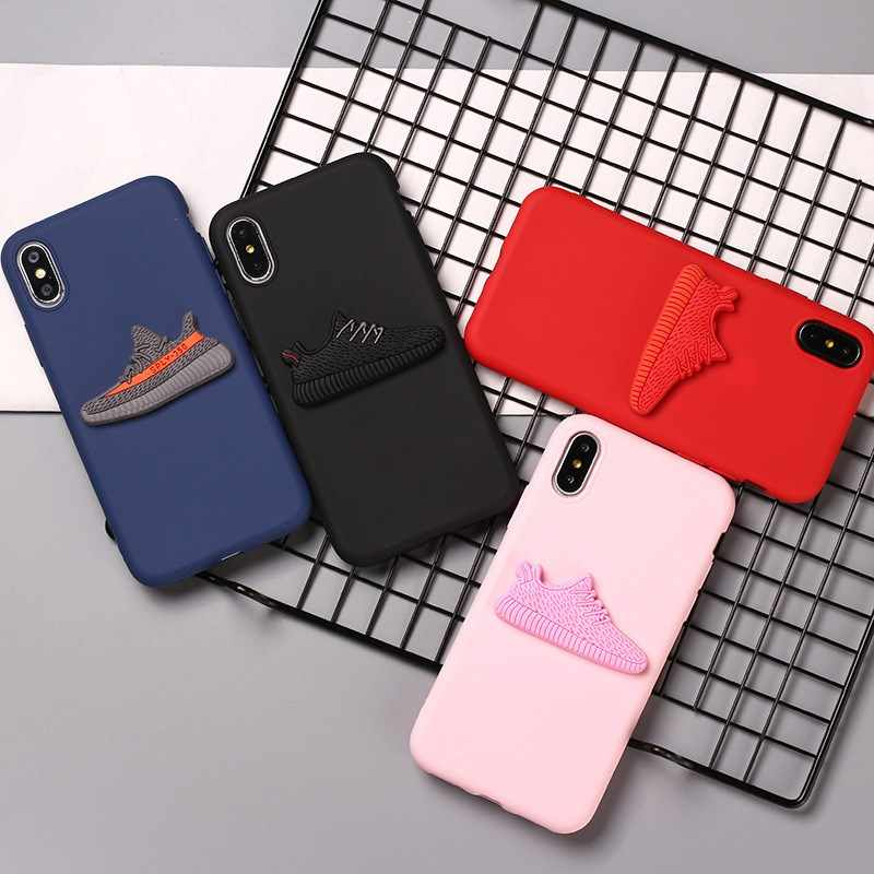 Phone Case Para iphone 5 X XS Max XR Silicone Macio Phone Cases Para Apple iphone 6 7 8 6s Plus sapatos Da Marca de Moda Da Tampa Do Caso macio