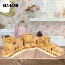 3D Diy Wooden Puzzles Games Toys For Children Huizhou Style Residences Puzzle Montessori Toy Challenge Wisdom A Hobby For Adult senior residences