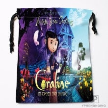 Custom Coraline Drawstring Bags Travel Storage Mini Pouch Swim Hiking Toy Bag Size 18x22cm#0412-03-46