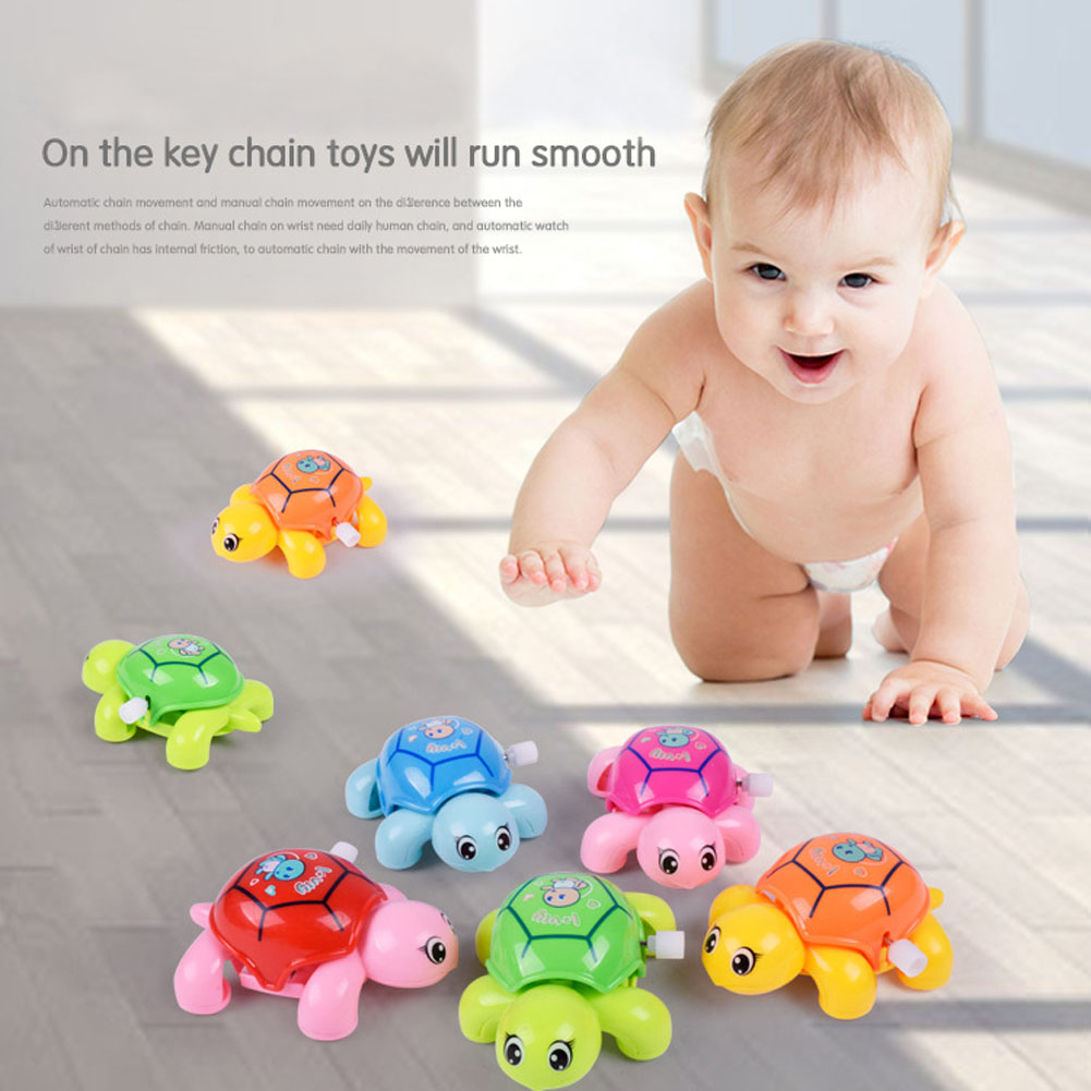 Baby Toys Cute Cartoon Animal Clockwork Tortoise Infant Swim Turtle Chain Wind UpToy Educational Kids Classic Toy Random Color