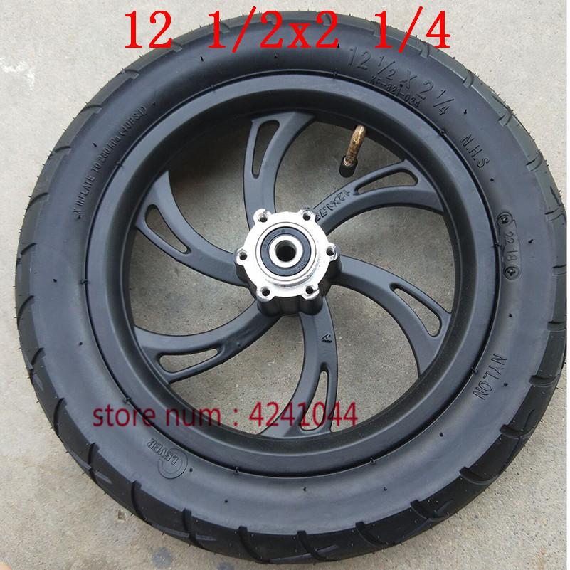 Free shipping 12 1 2X2 1 4 tires hub 12 inch wheels tyre stire for electric