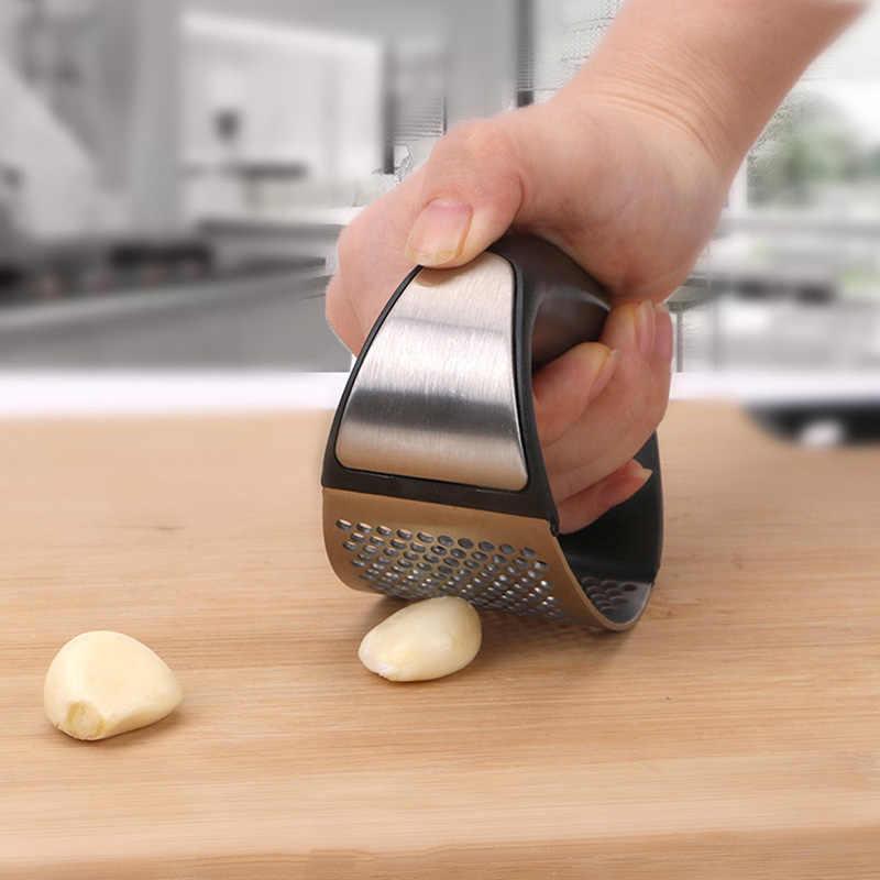 Praska do czosnku ze stali nierdzewnej Metal imbir czosnek Chopper Crusher czosnek Cutter kreatywna prasa ręczna czosnek narzędzia kuchenne gadżety