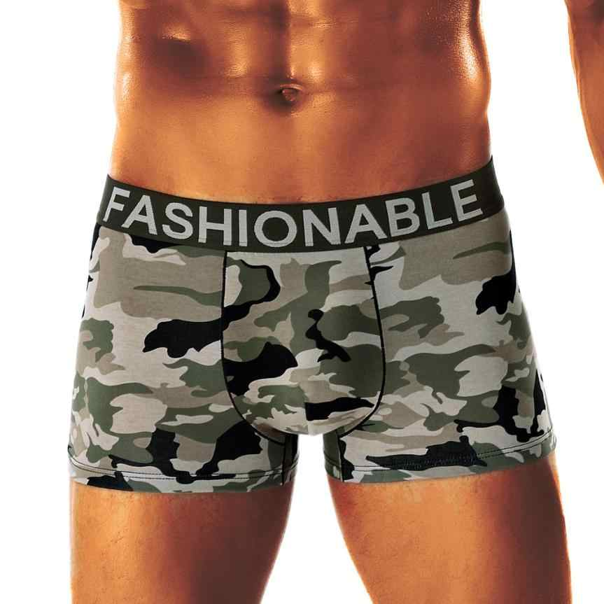 cf1aaefecd Detail Feedback Questions about Casual Men pants Men s Camouflage Panties  Soft Boxers Underpants Cuecas Knickers Shorts Sexy Underwear Army Green Male  boxer ...