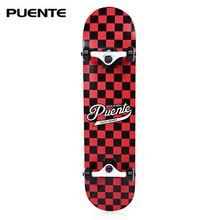 61c1d6e8208 PUENTE duradero de Skateboard de cuatro ruedas doble Snubby Longboard  deriva Skateboard ABEC 9 Bearing Skate