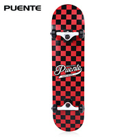 PUENTE Durable Maple Skateboard Four Wheel Double Snubby Longboard Drift Skateboard ABEC 9 Bearing Skate Board 5 Color