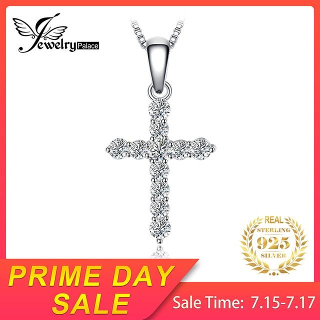 JewelryPalace 0.7ct Cubic Zirconia Túi Đeo Chéo Cổ Thật Nữ Bạc 925 45cm Hộp Chuỗi Vòng Cổ Tặng Bộ Trang Sức Thời Trang