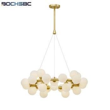 Nowoczesny projektant metalowy korpus szklane kule wisiorek światła do salonu sypialnia jadalnia szklane kule lampa wisząca 30 głowice