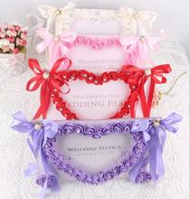 Artificial Rose Flower Photo Frame With Ribbon