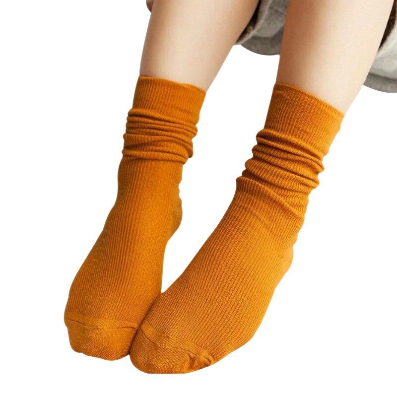 10 colors winter cotton socks Loose mid-calf Christmas socks In Tube Harajuku fashion students girls winter gift Korean socks