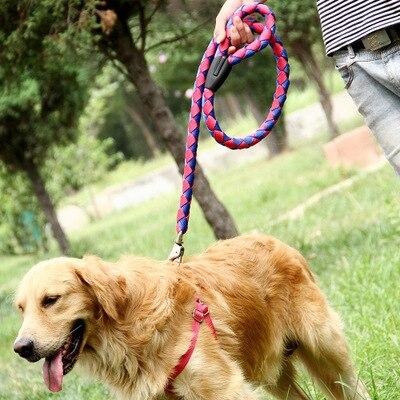 Купить высокое качество поводок для собак нейлоновый регулируемый тренировочный