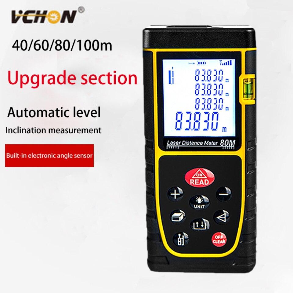 VCHON Laser Distance Meter 40M 60M 80M 100M metro trena laser rangefinder digital measurement distance sensor distance meter цена