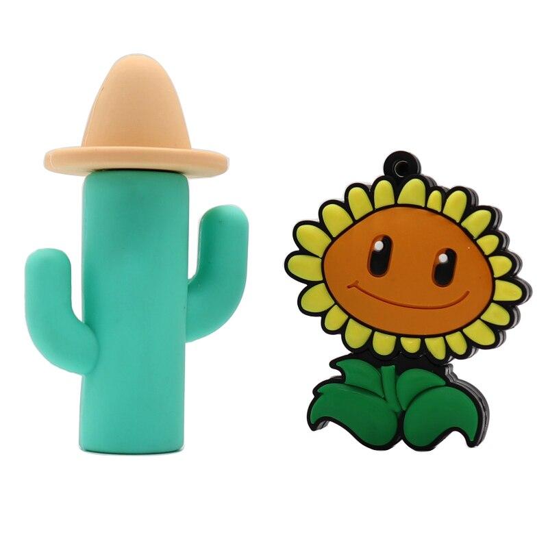 Permalink to usb flash drive Cactus and sunflower style memory stick pen drive cartoon flash usb memory stick high quanlity true capacity