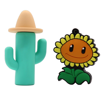 usb flash drive Cactus and sunflower style memory stick pen cartoon high quanlity true capacity