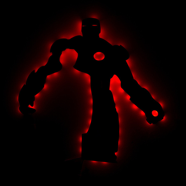 Ironman 3d led wall lamp night light ironman mark creative color ironman 3d led wall lamp night light ironman mark creative color changing action figure lighting toy mozeypictures Images