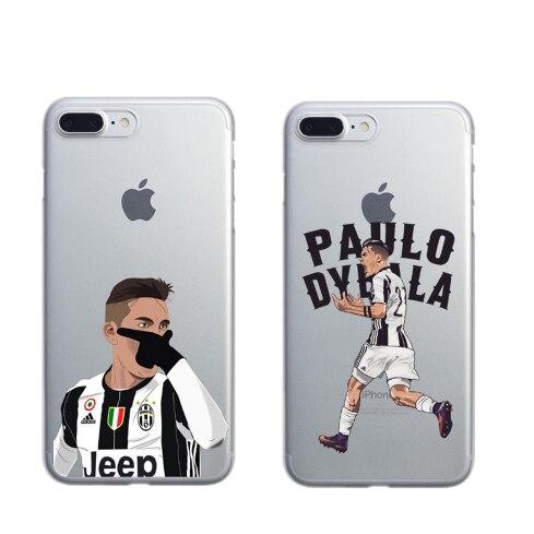 Coque Sport Football Soccer Star Ronaldo Messi Paulo Dybala pogba Hard plastic Phone Case Cover for iPhone 5 5S 6 6SPlus 7 7Plus