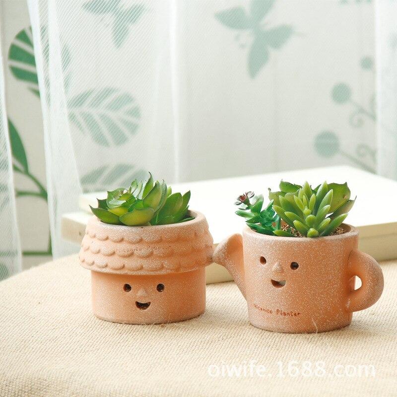 Delightful Where To Buy Ceramic Planters Part - 5: Japanese ZAKKA Retro Terracotta Pots Ceramic Pots Fleshy Mini Micro  Landscape Plants Wholesale Container(China
