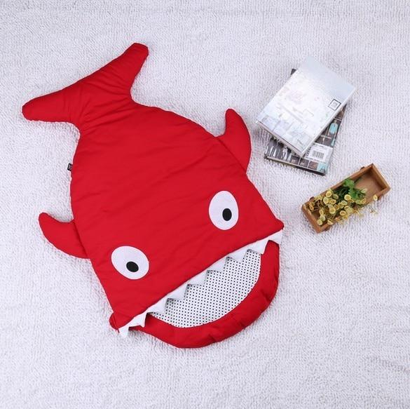 Акция! новорожденный Ребенок Акула Спальный Мешок Для Коляски Sleepsack Осень Зима