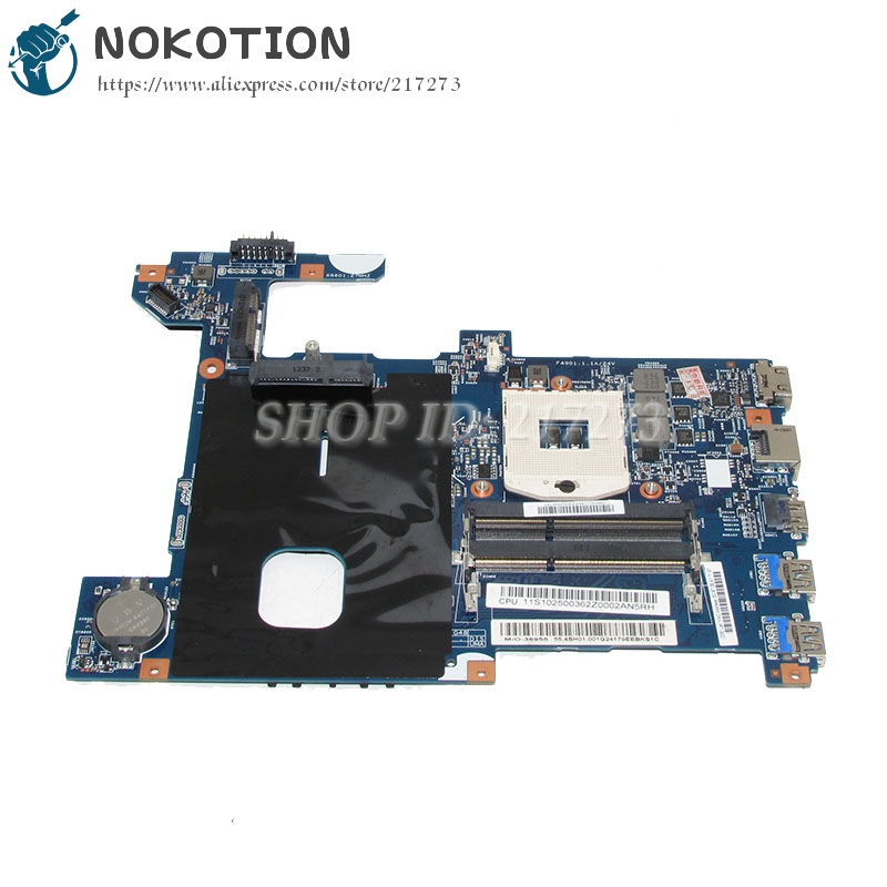 NOKOTION LG4858 UMA MB 11291-1 48.4SG15.011 laptop motherboard For lenovo ideapad G580 15.6 Inch Main Board SLJ8E HD4000 DDR3 h000079530 main board for toshiba ca10an ab laptop motherboard ca10an ab uma mb rev 2 1 ddr3 with cpu onboard
