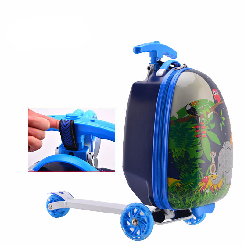 Beasumore Children Rolling Luggage Travel Bag Abs