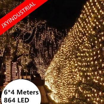 LED Net Lights 860 LEDs Web Fairy string Lights 6m x 4m 220v EU Plug christmas lights outdoor wedding decoration