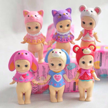 Sonny Angel 6pcs/set Mini Action Figure 2017 Valentine's Day Series Sonny Angel PVC figure Toys Brinquedos Anime 8CM