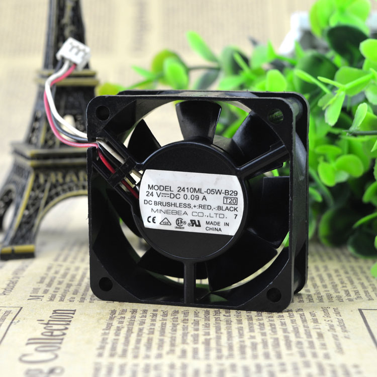 Free Delivery. 2410 ml - 05 w - b-29 24 v 0.09 A <font><b>60</b></font> * <font><b>60</b></font> * 25 <font><b>mm</b></font> original cooling <font><b>fans</b></font> image