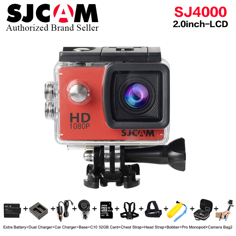 Original SJCAM SJ4000 Basic mini Action Camera Waterproof pro 1080P Full HD helmet cam Novatek 96650 mini Camcorder SJ 4000 Cam