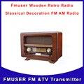 Retro de madera altavoz de la Radio Slassical decoración FM AM Radio por DHL el envío libre