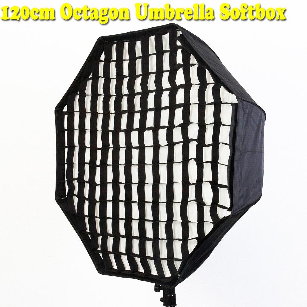 Diffuseur de Studio de Photo réflecteur de Brolly avec Gird pour Flash Speedlite 120 cm boîte souple de Studio de photographie de parapluie octogone