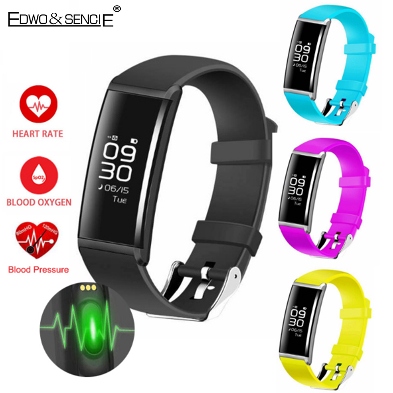 EDWO X9 Bluetooth Smartband Heart Rate Blood Pressure Wristband Sport Health Bracelet Pedometer Call Message Reminder