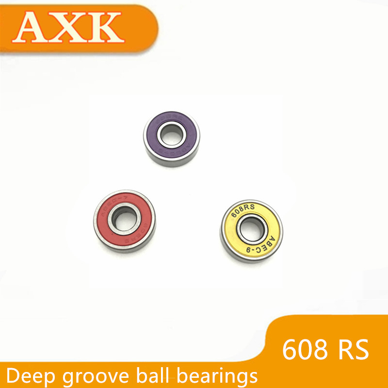 608 608rs 608-2z 608z 608-2rs Zz Rs Rz 2rz Aebc-5 Deep Groove Ball Bearings 8 X 22 7mm High Quality 8*22*7 Yellow Purple Red