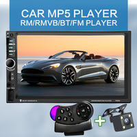7060B 7 Inch Bluetooth TFT Screen Car Audio Stereo MP4 Player 12V Auto 2 Din Support AUX FM USB SD MMC Support for JPEG,WMA,MP5