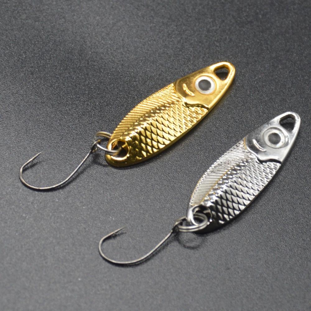 Lot 12 Carp Fishing Spinner 2.5//3.5//5g Hard Bait Spoon Hook Metal Bass Lure