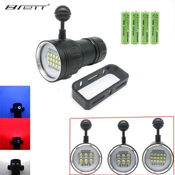 Unterwasser 100m wasserdichte LED tauchen taktische taschenlampe 20000Lumen 6x XHP90 fotografie Video füllen licht mit 18650 ladegerät