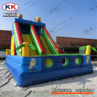 Fashionable giant inflatable cartoon slide for Children, jumping trampoline type slide