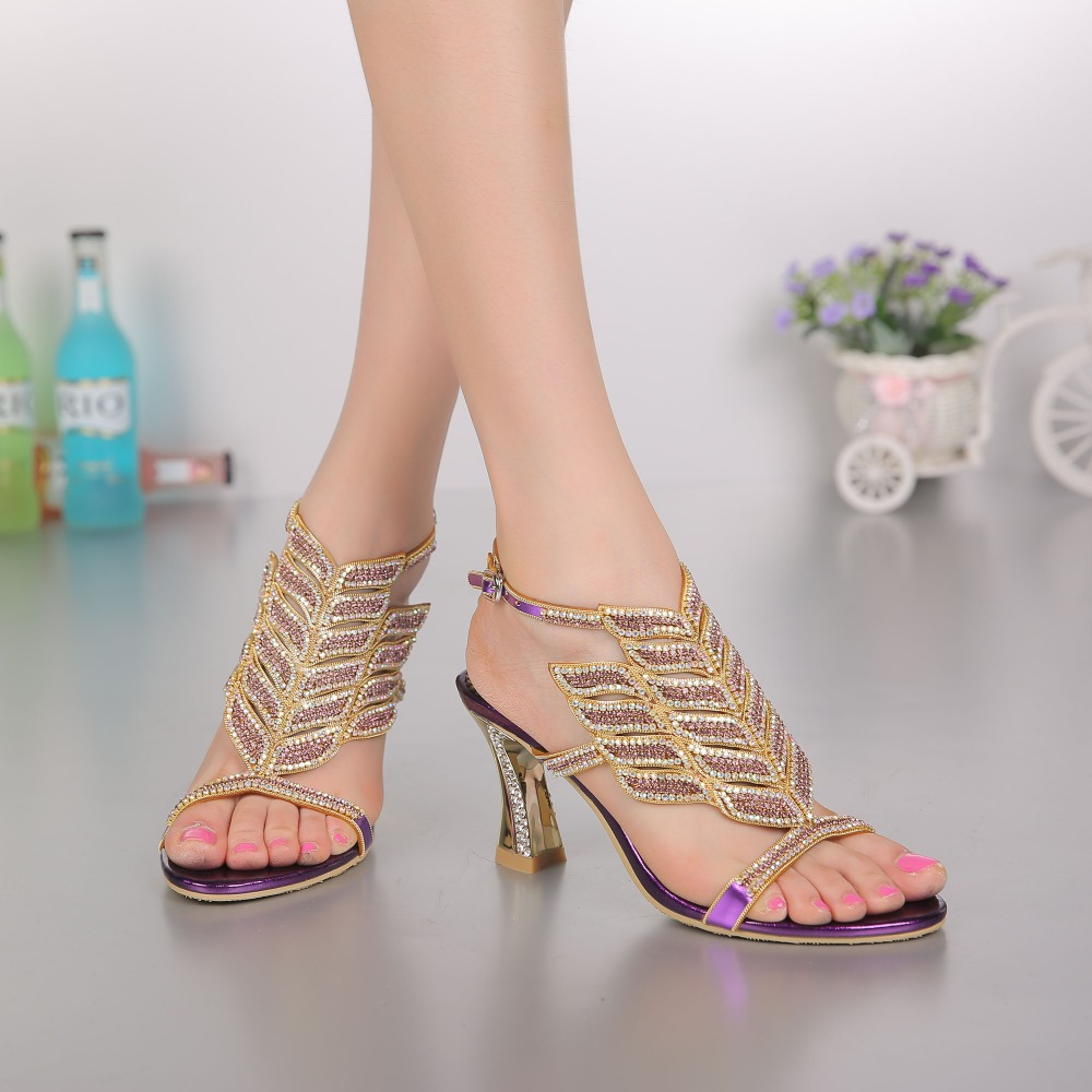 8 cm high heels with diamond-encrusted sandals, spring and summer new water drill women's sandals thick with sexy open-toed shoe the new spring and summer ms south korea ensure their boots comfortable show female water thin antiskid tall canister shoe