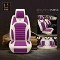 Cuidado de la salud aliviar la fatiga de conducción de coches cojines fundas de los asientos de fibra de lino 5 Colores respirables mujeres accesorios del coche XRL05