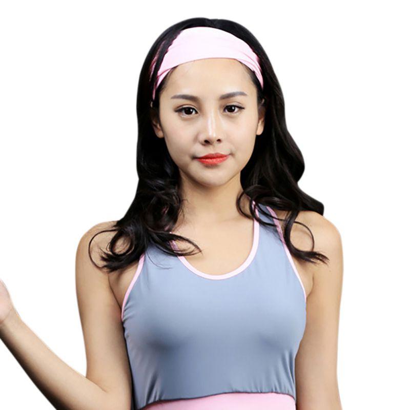 Women Men Gym Workout Moisture Wicking Workout Sports Yoga Sweatband Headband