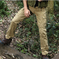 Spring casual pants overalls male  multi-pocket patch pocket loose 100% water wash cotton trousers