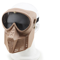 Full Face Safe Mask For Outdoor CS Survival War Game Fly Plastic Mask With Metal Mesh
