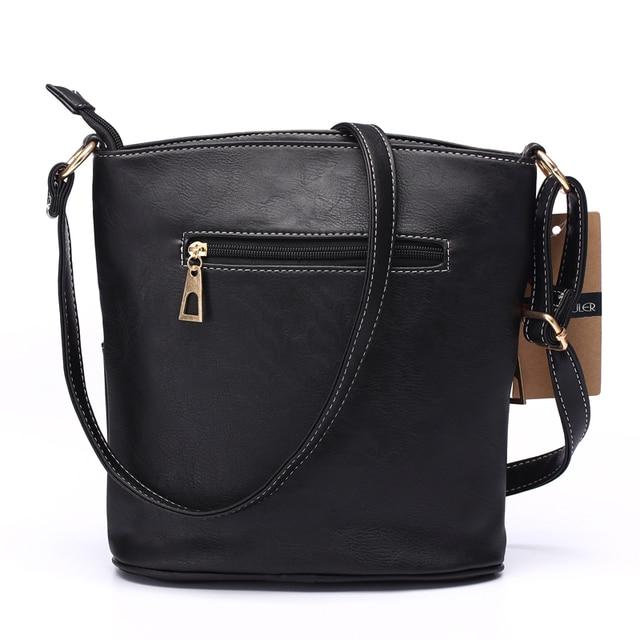 Women Patchwork PU Shoulder Bag 4 Colors Crossbody Bag Tote Bag Three Zipper Messenger Bag High Quality 4