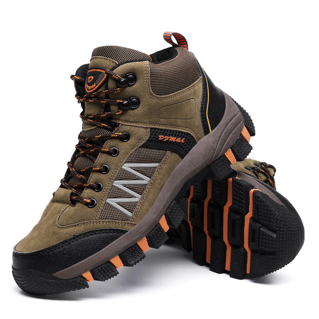 CHAMSGEND Men's Comfortable sports shoes wear-resistant shock-absorbing outdoor non-slip hiking basketball hiking shoes