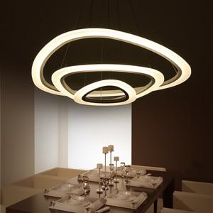Image 4 - מודרני led תליון אורות אקריליק מקורה תאורת led סלון אוכל חדר luminaire suspendu אור גופי