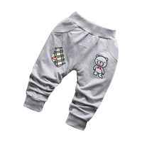 Casual Autumn Clothing   Baby   Kids Boys Male Infants Cartoon Bear Cotton Long Full Length   Pants   Trousers MT1470
