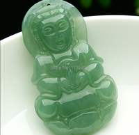 Excellent 100% A Grade Natural /Jadeite Carved Kwan Yin Pendant 1pcs